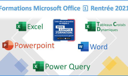 Calendrier des prochaines formations MICROSOFT OFFICE